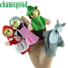 Finger Puppet toy CHAMSGEND 520 Modern 4PCS Little Red Riding Hood Finger Puppets Christmas Gifts Baby Educational Toy H16