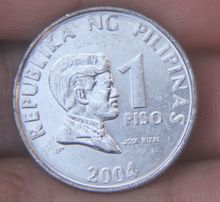 24mm the Philippines 1 Peso Coin Asian(China)