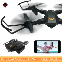 XS809W Mini Foldable Drone RC Selfie Drone With Wifi FPV HD Camera Wide Angle Altitude Hold RC Quadcopter Drone FSWB(China)