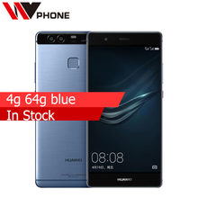 "WV Original Huawei P9 4G LTE Mobile Phone Kirin 955 Octa Core 5.2"" FHD 1080P Dual Back 12.0MP Camera Fingerprint ID"