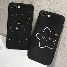 Fashion Hollow out Star Cartoon Case For iphone 7 Case Ultra thin Hard PC Matte Frosted Phone Cases For iphone 7 6 6S Plus Cover