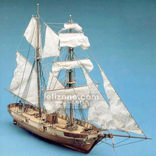 Scale 1/55 the France Classic ship model Le Hussard 1848 warship wooden model kit