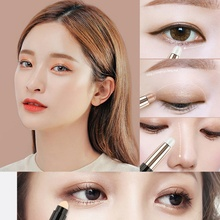 Make Up Eye Shadow Shimmer Pencils Double-end Waterproof Face Eye Brighten White Contour Nude Eyeshadow Stick M2(China)