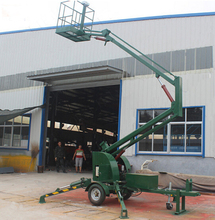 mobile articulated towable boom lift/truck mounted hydraulic folding arm lift platform 8m 10m 12m 14m(China)