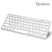 German Bluetooth Keyboard with QWERTZ Layout Wireless Keyboard for Apple iPad iPhone Samsung Ordinateur Portable