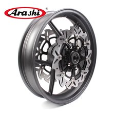 Arashi 1 Set Z750 Wheel Rim Front Brake Discs For KAWASAKI Z750 2007 2008 Motorcycle Wheel Rims Accessories(China)