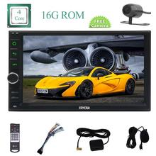 Rear Camera + 7inch' Double Din 2 din Eincar Car Radio Stereo Android 6.0 Mashmallow HD Capacity Screen with External Microphone(China)