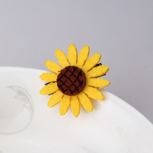 MISM Small Daisy Flowers Hairpin Barrettes Lovely Girls  Elastic Rubber Bands Headwear Hair Accessories For Women Clips Scrunchy
