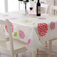 1 Pc 2 Sizes Pastoral Country Style Table Cover PVC Plastic Waterproof Oilproof Table Cloth Anti Hot Coffee Tablecloths Wedding