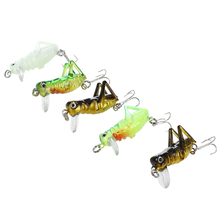 5Pcs 3g 4cm Artificial Fishing Lures Luminous Locust Grasshopper Insect Shape Hard Baits Set Tackle Box