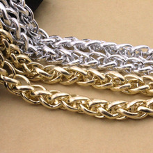 1 Meter/lot  15*21mm Big Chunky Curb Gold Bulk Aluminum Link Chain Necklace Jewelry Findings DIY Material F1652