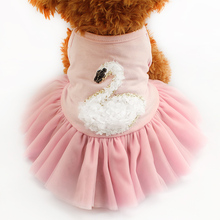 Armi store Summer Swan Pattern Dog Dresses Vest Princess Dress For Dogs  6071037 Pet Skirt Clothing  Supplies XS, S, M, L