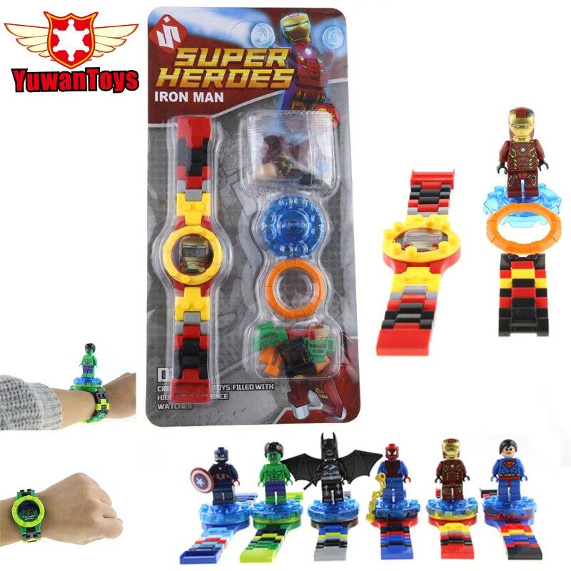 Hot Super Hero The Avengers Iron Man Minifigures 6 Style Original box Mini Building Blocks Watch Bricks Compatible LEPINES Toys<br><br>Aliexpress