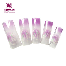 70pcs airbrush pre design uv nail tips fashion designer false nail art tips acrylic half cover fake tip manicure tools(China)