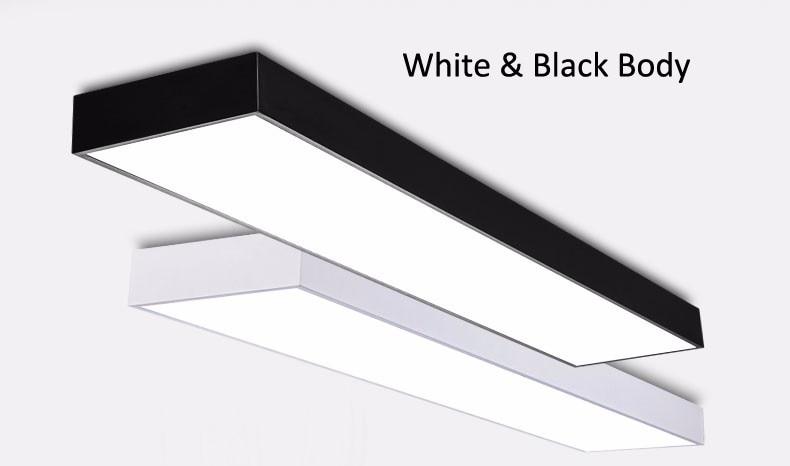 Plafoniera Ufficio : Acquista plafoniera moderna a led in alluminio soffitto bianco