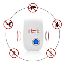 EU/US Plug Electronic Ultrasonic Pest Repeller Mosquito Insect Repeller Rat Mouse Cockroach Pest Reject Repellent Home Indoor