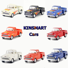 1:32 KiNsmart Alloy Pickup Car Toy Simulation Die cast  Metal Pick-up Cars Model Pull Back Truck Toys For Children Brinquedos