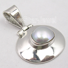 . Solid Silver AAA PEARL CHARMING HINGE Pendant 2.7CM