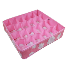 3 in 1 Pink Grid Storage Box Organizer for Underwear Bra Folding Closet Drawer Divider Boxes Ties Socks Bra Underwear Organizer