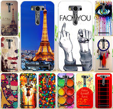 Phone Case Cover For Asus Zenfone2 Laser ZE500KL Cases 5.0 inch (not for zenfone2) Painting The Eiffel Tower Red Phone Booth