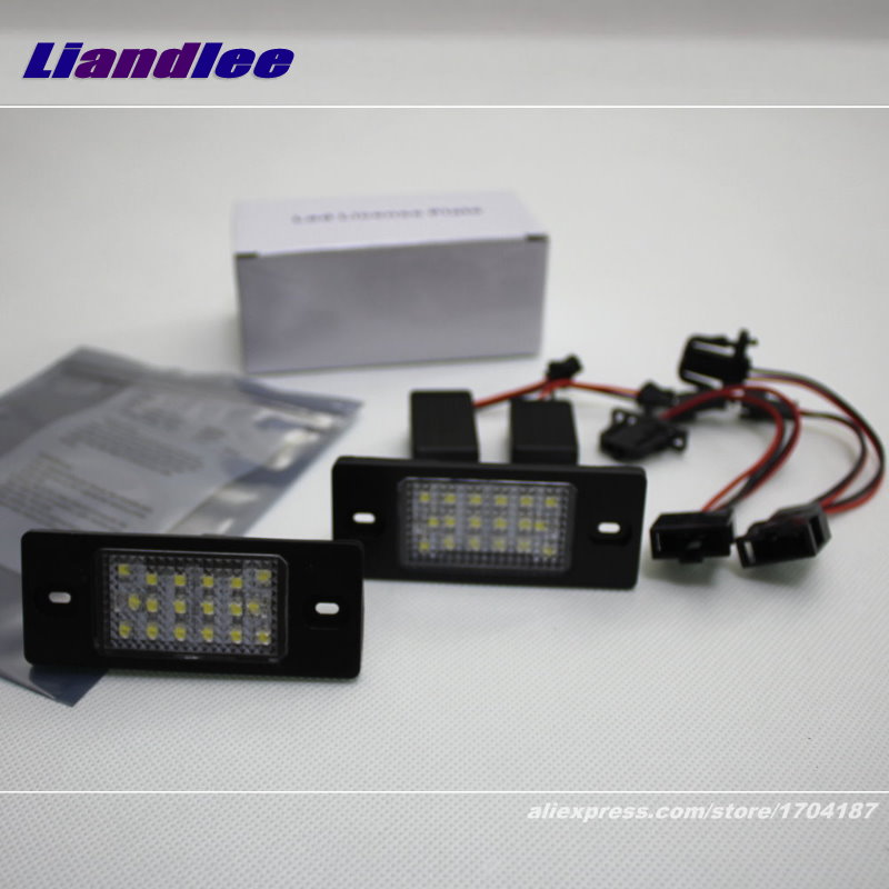 Liandlee For Volkswagen VW Tiguan 2007~2016 / LED Car License Plate Light / Number Frame Lamp / High Quality LED Lights<br>