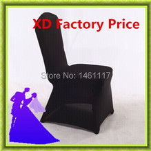 wholesale black lycra chair cover used banquet , hotel , event(China)