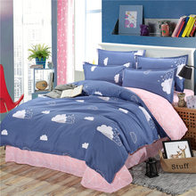 Free Shipping Modern Style Polyester Duvet Cover Set Bed Sheet Pillowcase Twin Full Queen Size King Super Soft Bedding Sets MY2(China)