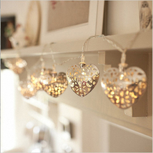 Birthday Party Church Wedding Decoration Bright Heart Love String Lights Night Dinner Table Hanging Metal Craft Bedroom Decor(China)