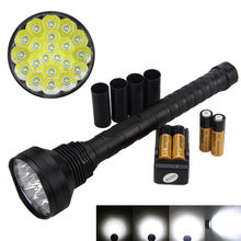 2400lm 21x XM-L LED Big Bright Flashlight Torch With Super Head 5-Modes Lamp Light suitable for people when outgoing