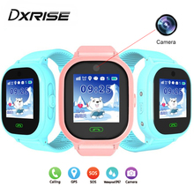 DS05 smart baby watch phone with GPS SIM card for kids in Russian camera IP67 waterproof smart clock tracker children pk DF25 V8(China)