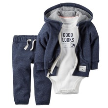 2017 New baby girl cloth 3 pieces lot full sleeve New born baby boy clothes Casual Cotton Fashion Baby Clothes New Brand Clothes(China)