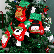 4 piece Merry Christmas Socks Christmas Decoration For Home Santa Claus Gift Christmas Ornaments Decoration, kids gift bag