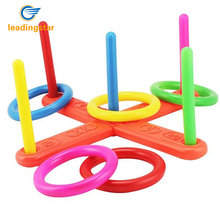 LeadingStar Ring Toss Hoopla Game Set Ferrule Throwing Game Party Game/ Gift for Adults and Kids Random Color zk25(China)