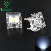 IEKOV 20 LED 5MM White Piranha Super Flux Leds 4 pin Dome Wide Angle Super Bright  Light  Lamp For Car Light  High Quality Hot