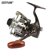 Goture Mini Fishing Reel Palm Size Metal Coil Ultra Light Small Spinning Reel For Ice Fish Pen Fishing Rod Molinete Pesca(China)