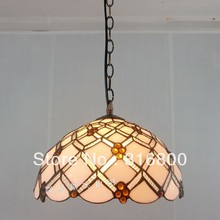12 inch minimalist modern cherry lamp glass lighting chandeliers Tiffany Kitchen Chinese restaurant Antique Cafe Chandelier(China)