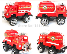 Wholesale Children's Vehicles Toys Fire Truck Best Gift for Children Car Model Baby Toys Kids Educational Toy 4 Pcs/set(China)