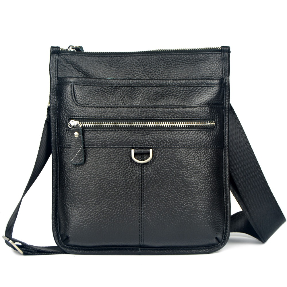 Genuine leather small messenger bags for men crossbody shoulder bags with high quality ipad mini handbag male cowhide bags 2015<br>