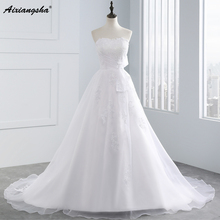 New 2017 Sweetheart organza lace up floor-length lace Wedding Dresses Vestido de Noiva Casamento Sexy Elegant Bridal Dress