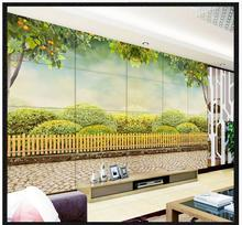 Buy 3d photo wallpaper custom 3d murals wallpaper Pastoral scenery Green tea garden trees rural style living room TV setting wall for $12.88 in AliExpress store