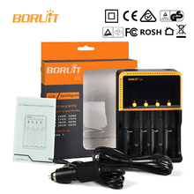 Boruit C4 4 slot Universal battery charger 18650 LCD display Charging Device Digital for AA AAA Li ion rechargeable batteries