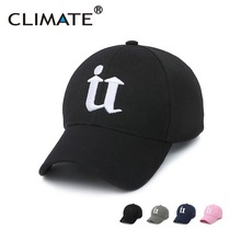 CLIMATE Men Cool 3D U IT Logo Black Baseball Caps Sport Striking Nice Cap Unisex Adjustable Pink Navy 3D Logo Hats For Men Women