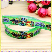 5/8'' Free shipping Fold Elastic FOE cartoon game printed headband headwear diy decoration wholesale OEM P4680(China)
