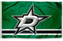 NHLTeam Dallas Stars logo column Flag 3x5FT banner150X90CM 100D  Polyester  brass grommets custom flag, Free Shipping