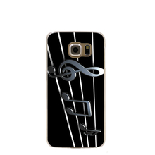 11495 music notes metal cell phone case cover for Samsung Galaxy S7 edge PLUS S6 S5 S4 S3 MINI