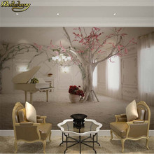 beibehang Custom 3d mural wall paper TV backdrop sofa space to expand 3d photo wallpaper for walls 3 d flooring paper(China)