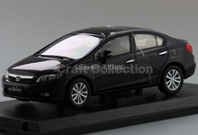 Classic Diecast Scale Model Car Deep Purple 2011 Honda Civic 9 Miniature Toys