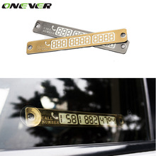 Temporary Car Parking Card Telephone Number Card Notification Night Light Sucker Plate Car Styling Phone Number Card