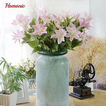 Cheap 3 heads decorative artificial flower Fresh Lotus leaf artificial flower arrangement home decoration accessories modern(China)