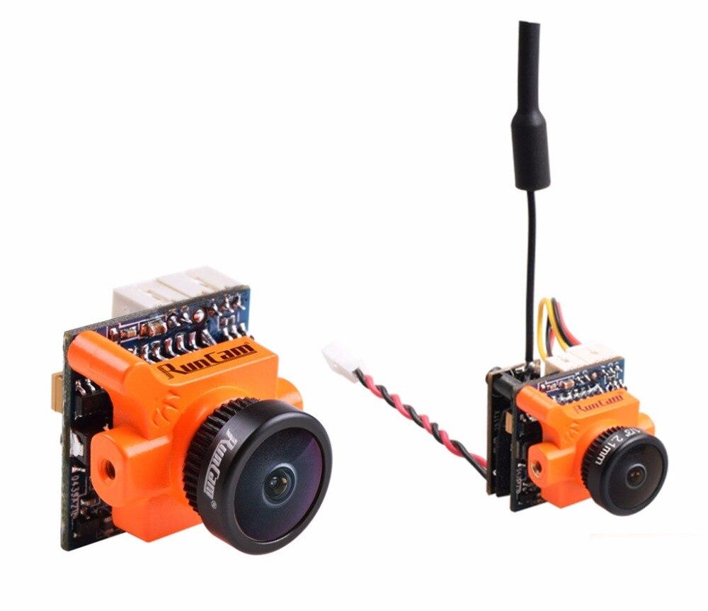 RunCam Micro Swift 600TVL 2.1mm IR Blocked 1/3 CCD FPV Camera PAL 5.6g + TX25 Micro Swift Mini Vedio Transmitter for FPV Racer <br>